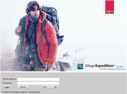 Silega Expedition - login screen